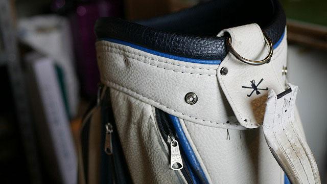 (MIZUNO THE OPEN)ミズノ ジオープン/キャディバッグの口枠の縫製を解く