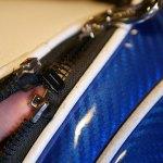 (HONMA)本間ゴルフ/キャディバッグのポケットファスナー不良を開き留め金具で調整修理
