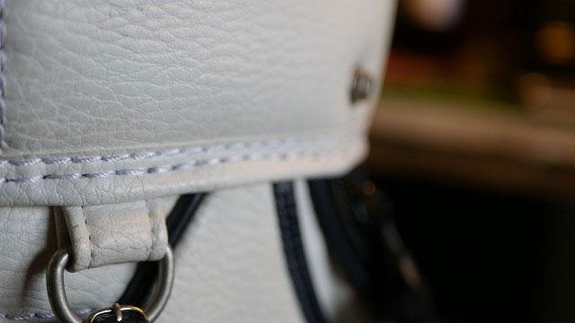(PEARLY GATES)パーリーゲイツ/キャディバッグの口枠へりの縫製抜けを奥に詰めて再縫製