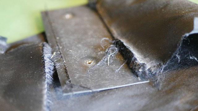 (CRAZY)クレイジー/キャディバッグのセパレーター底付近の布破れ