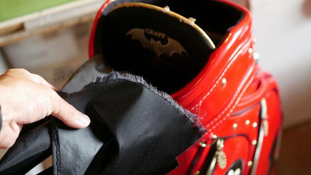(CRAZY)クレイジー/キャディバッグの中仕切り布の解れ
