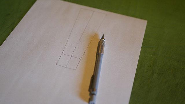 (BURBERRY)バーバリー/キャディバッグの穴あき補強板の製図