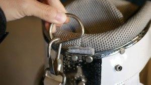(MARK&LONA)マーク&ロナ/キャディバッグのショルダーベルトを掛けるDリングのベルト切れ