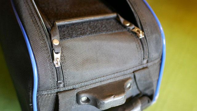 (Brunswick)ブランズウィック/ボーリングバッグのファスナー持ち手を作製交換