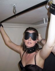 Beautiful Amateur Blindfolded, Gagged and Restrained for Discipline