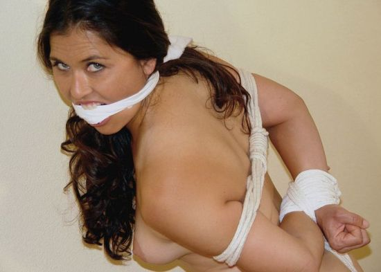 Curvy Girlfriend Gets Tightly Bound and Cleave Gagged for Punishment