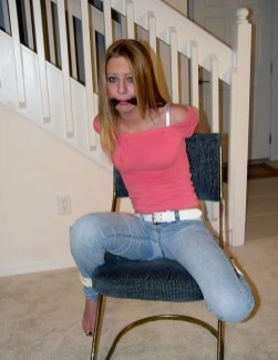 Cute Young Girlfriend Bound and Cleave Gagged by Her Boyfriend at Home