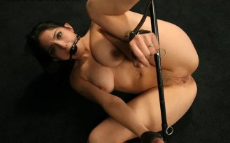 Exotic Brunette Gets Stripped and Spread in Dungeon for Punishment