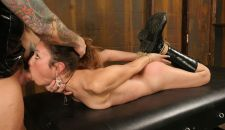 Gorgeous Slave in Boots Gets Hogtied and Trained in the Dungeon