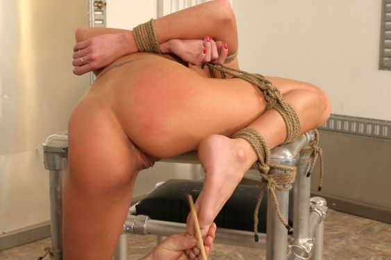 Hot Blond Slave Gets Tightly Bound, Gagged, Whipped and Tortured Hard