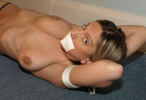 Hot Girlfriend Gets Gagged and Bound by Her Boyfriend for Punishment