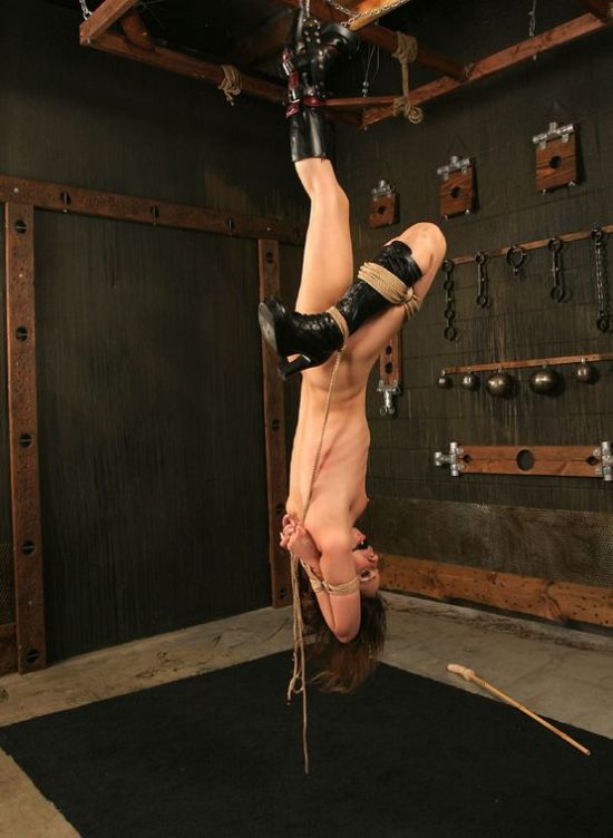 Hot Young Brunette Gets Suspended and Tortured Hard in Dungeon