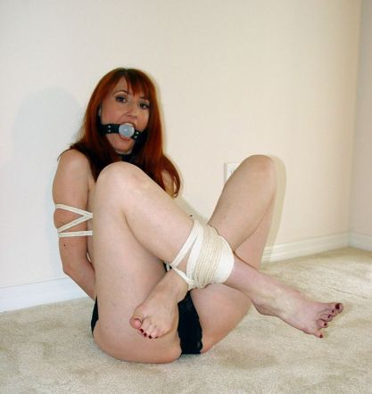 Kendra James Tightly Bound, Ball Gagged and Dominated in Basement
