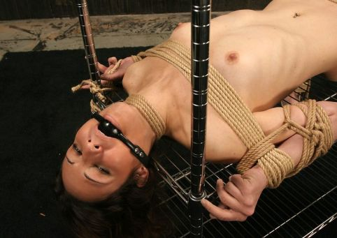 Kinky Amateur Restrained, Suspended and Dominated Hard in Dungeon