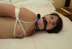 Kinky Housewife Gets Bound, Gagged and Blindfolded in a Hotel Room