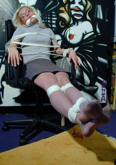 Kinky Secretary Tightly Bound and Cleave Gagged for Punishment
