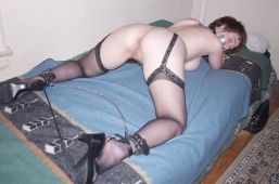 Kinky Young Slave in Stockings Gets Collared, Chained and Disciplined