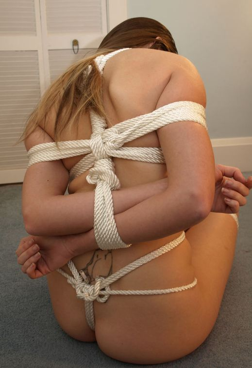 Sexy Brunette Amateur Gets Ball Gagged and Tightly Bound for Training