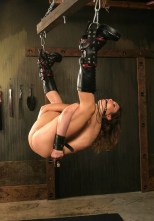 Sexy Brunette in High Heel Boots Suspended and Humiliated in Dungeon