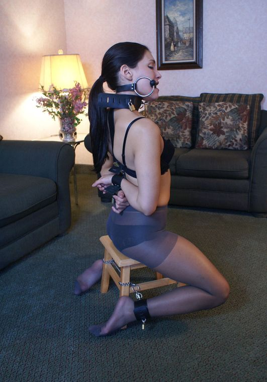 Sexy Girlfriend in Stockings Gets Bit Gagged and Cuffed for Fun