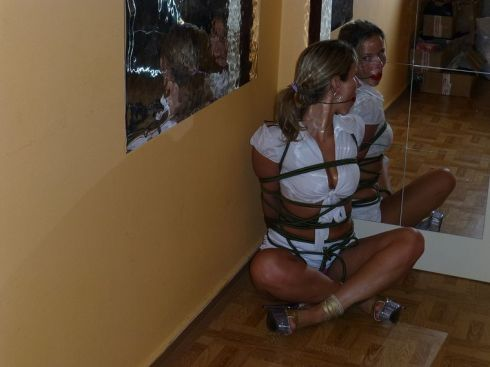 Sexy Housewife Gets Gagged and Bound by Her Husband for Discipline