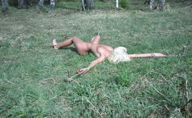 Sexy Skinny Blonde Gets Bound and Restrained Outside for Discipline
