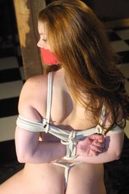 Sexy Slave Gets Bound, Tape Gagged and Dominated for Punishment