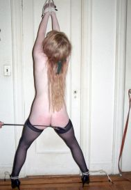 Young Blond Slave Bound, Ball Gagged and Humiliated for Punishment