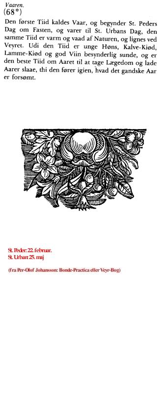 Uge 11 i udvalg fra Per-Olof Johansson: Bonde-Practica eller Veyr-Bog