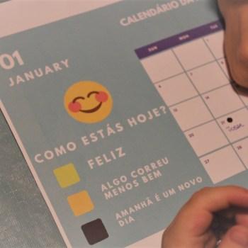 o calendário da felicidade