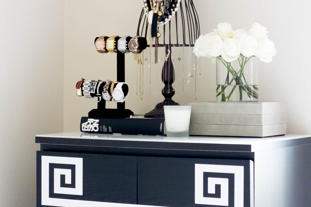 Ikea Hack // DIY Greek Key Dresser   BondGirlGlam.com