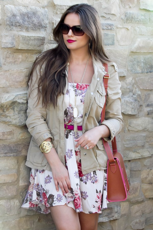 #OOTD // Floral Dress & Anorak