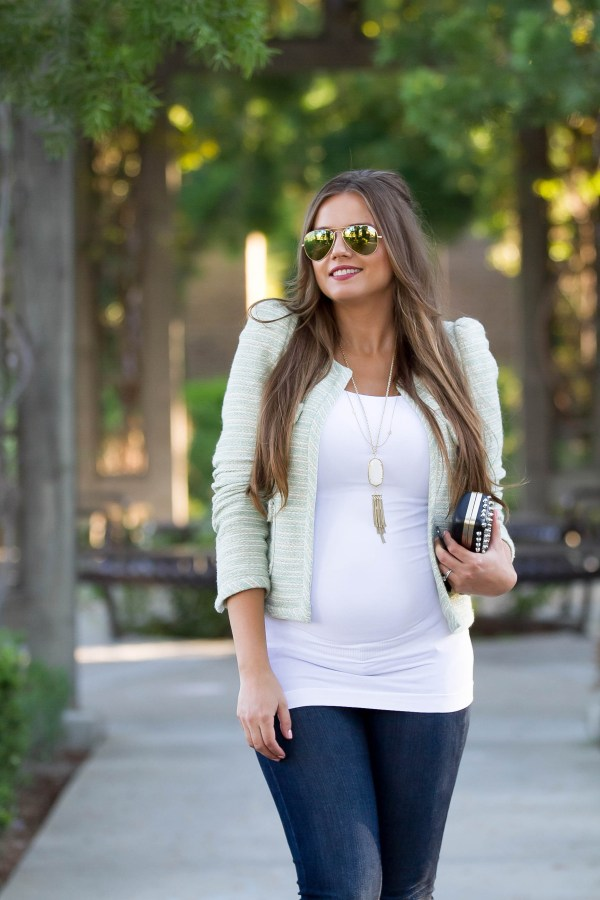 #BumpStyle // Tweed Jacket & Skinny Jeans | BondGirlGlam.com