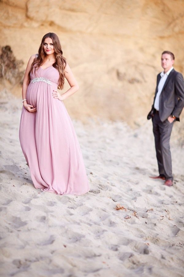Beach Maternity Shoot with Mr. Bond | BondGirlGlam.com