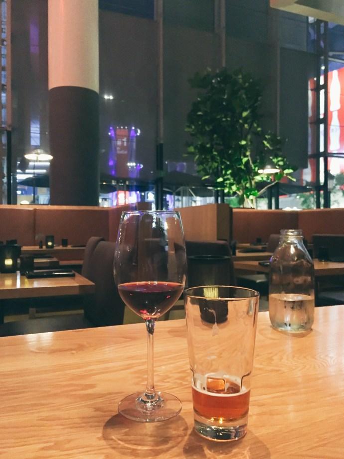 bond-girl-glam-date-night-la-live-jw-marriott-fords-filling-station-dinner-wine-beer-city-light-views