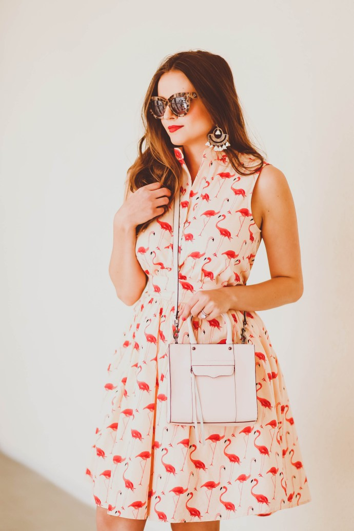 #OOTD // Flamingo Print Dress | BondGirlGlam.com