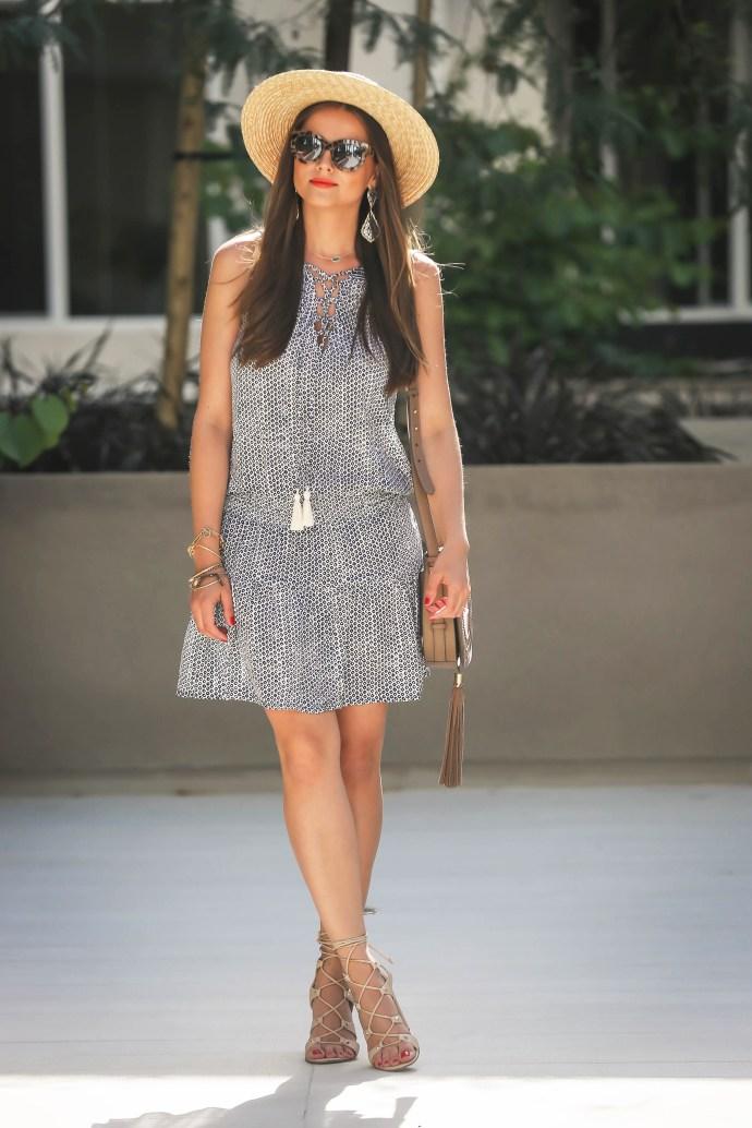 #OOTD // Printed Tassel Tank Dress | BondGirlGlam.com