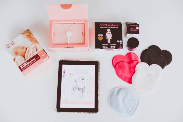 giveaway for a one-month subscription to LE TOTE, one Momsense smart breastfeeding meter, and a set of Bamboobies nursing pads and nipple balm