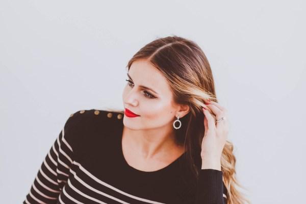 #BumpStyle // Striped Sweater Dress & Phillip Gavriel Jewelry   BondGirlGlam.com