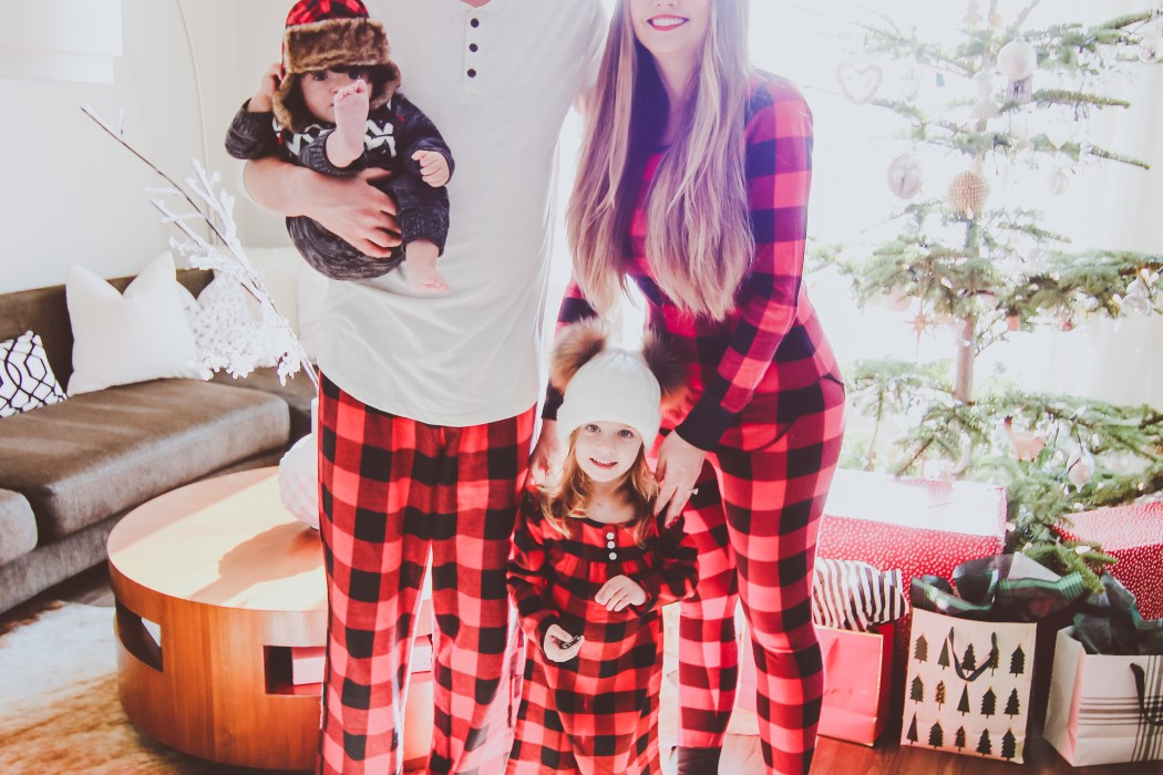 Matching Red Buffalo Check Family Christmas Pajamas | BondGirlGlam.com