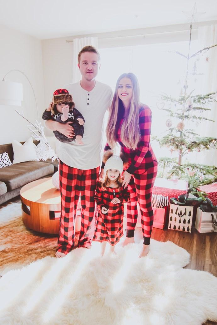 Matching Red Buffalo Check Family Christmas Pajamas | BondGirlGlam.com