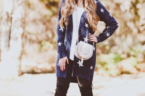 #OOTD // Star Cardigan, Nursing Tee & Leggings