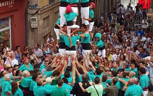 Menselijke toren in Tarragona
