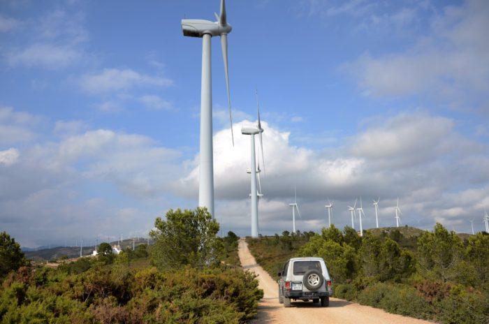 Windmolenpark in Tortosa