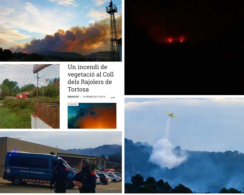 Help het bos brandt