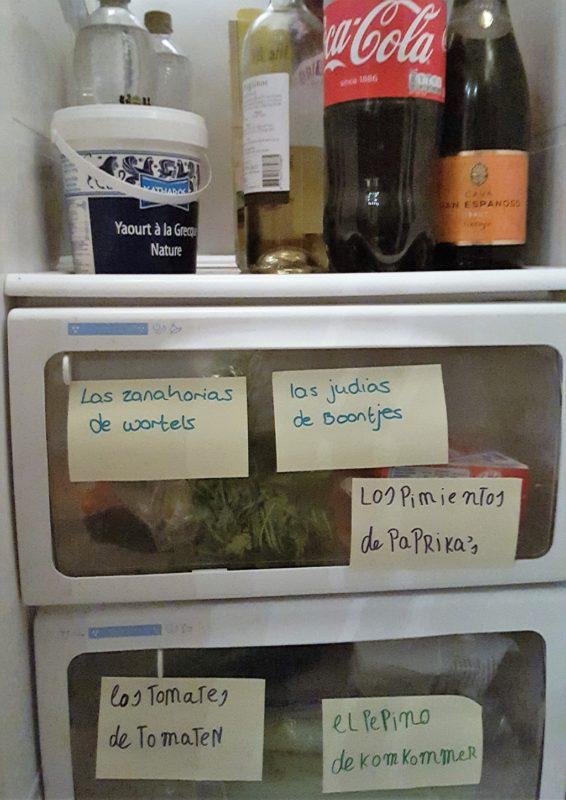 Spaans leren voor kinderen post it