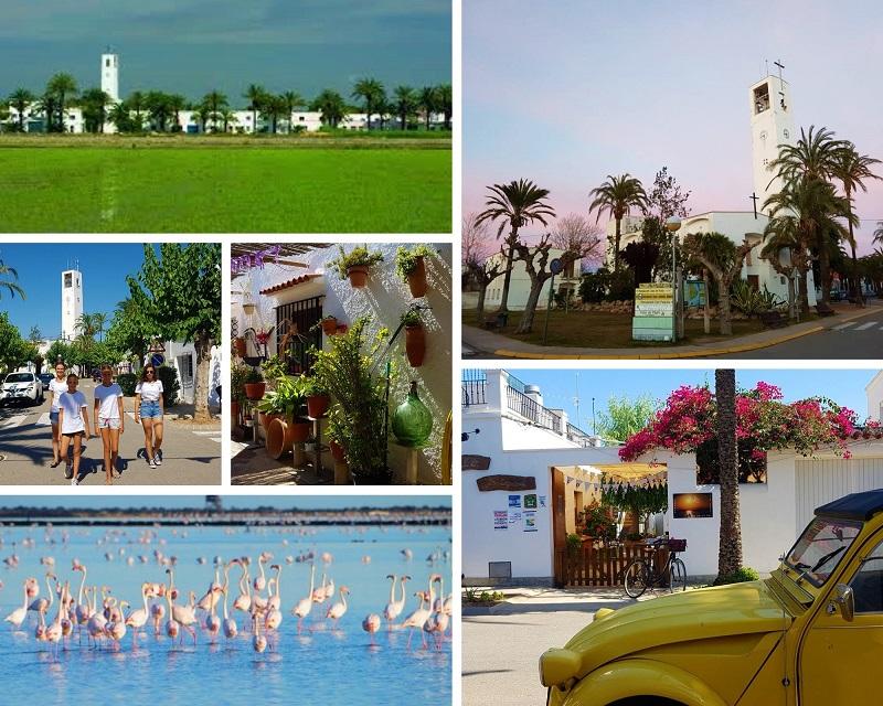Poble Nou del Delta in de Ebro Delta zou niet misstaan als dorp in Andalusia