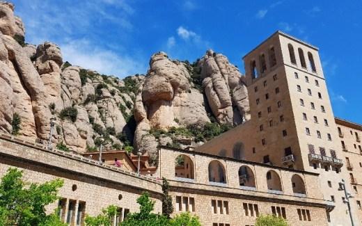 Montserrat Klooster op grote hoogte