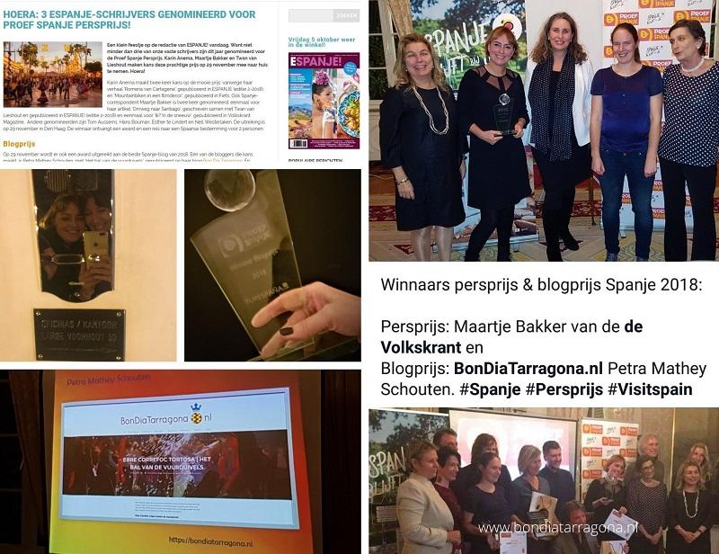 Eerste prijs Blogprijs Proef Spanje