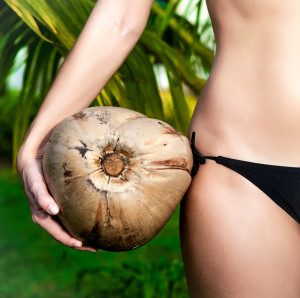 A whole coconut can last you a month or more